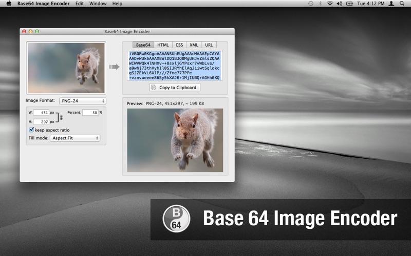 Base64 Image Encoder Screenshot