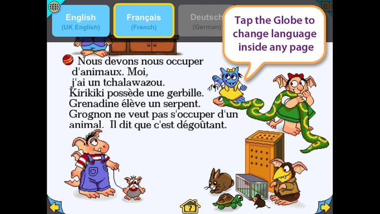 Little Monster at School – Wanderful interactive storybook in UK English and French