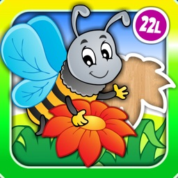 Abby Monkey® Animal Shape Puzzle for Preschool Kids: Meadow
