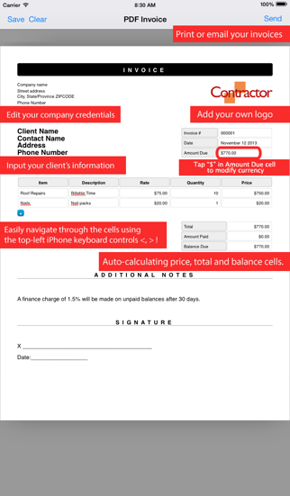 Simple Invoice Maker | Create PDF from your iPhoneのおすすめ画像4
