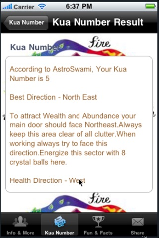 Kua Number Calculator
