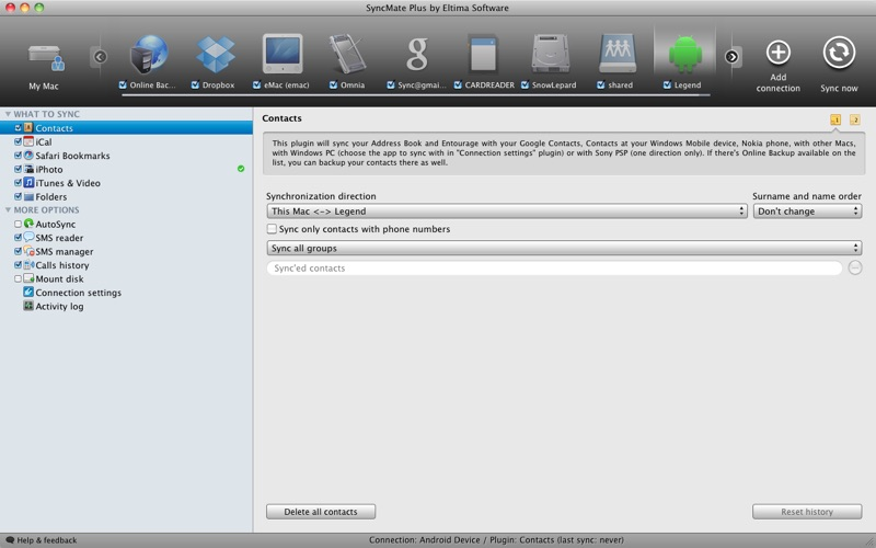 SyncMate Plus Screenshot