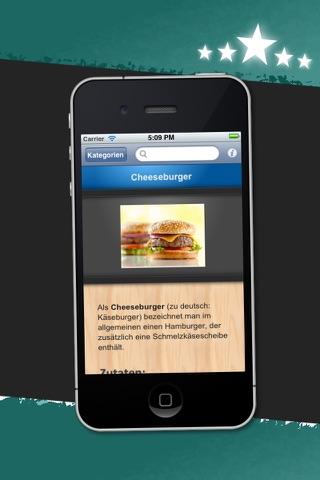 Fastfood HD - 100 Rezepte für Burger & Co screenshot 2