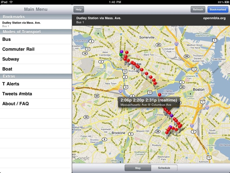 OpenMBTA for iPad screenshot-4