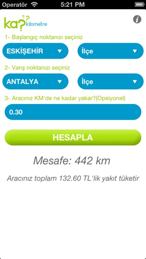 Kaç Kilometre On The App Store