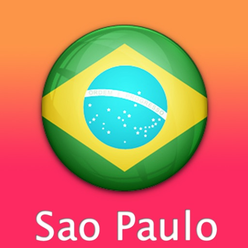 Sao Paulo Travel Map (Brazil)