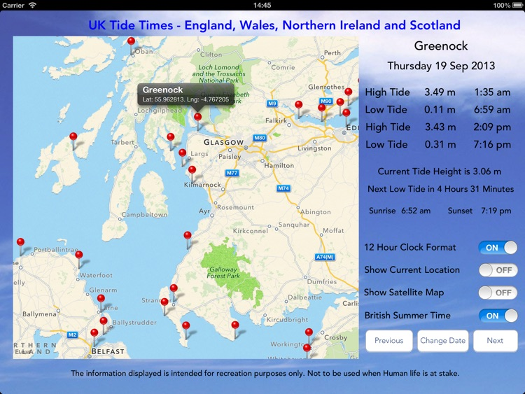 UK Tide Times Pro screenshot-1