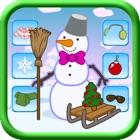 Pupazzo di neve festivo Vestirsi gioco per bambini icon