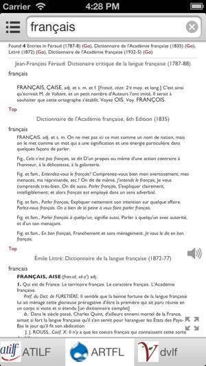 Tout Dictionnaire Francais On The App Store