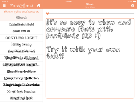 FontMimic HD screenshot 1