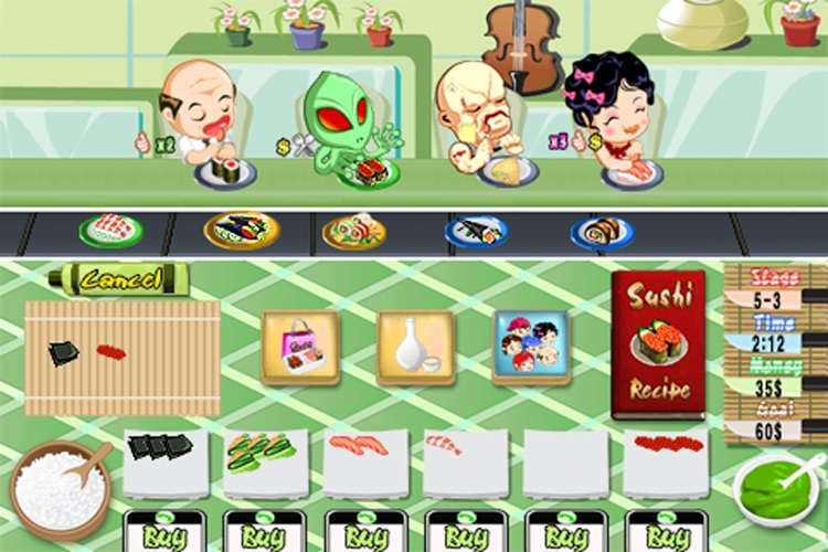 Sushi Rush Free screenshot-1