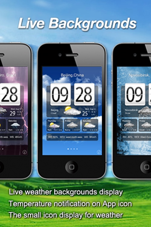 Awesome Live Weather Clock screenshot-1