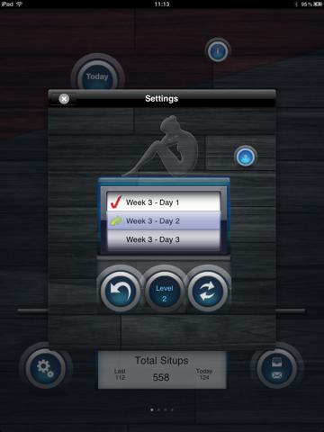 Situps 200+ Lite screenshot