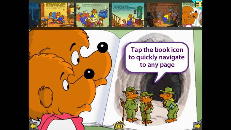 In The Dark, Berenstain Bears – Wanderful interactive storybook in English