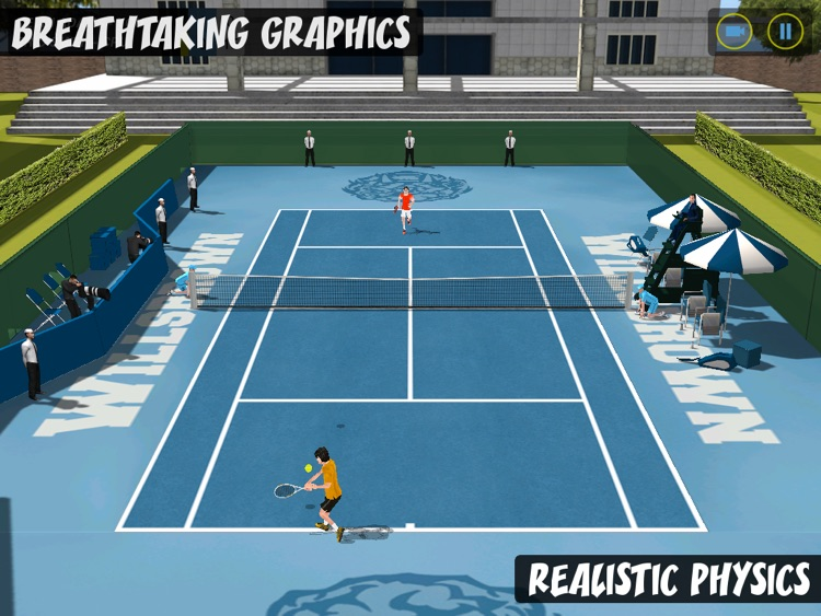 Flick Tennis HD screenshot-2