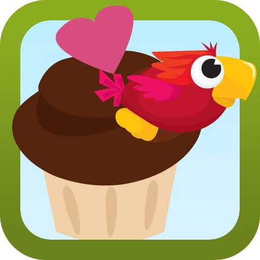 Parrot eats Cup Cakes - PreSchool Games