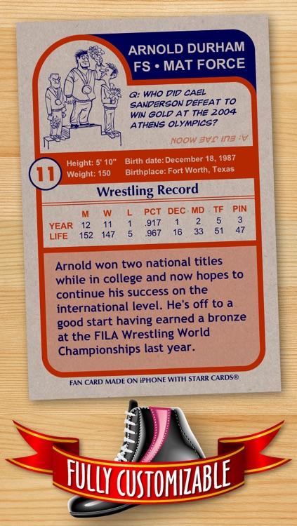 Wrestling Card Maker - Make Your Own Custom Wrestling Cards with Starr Cards