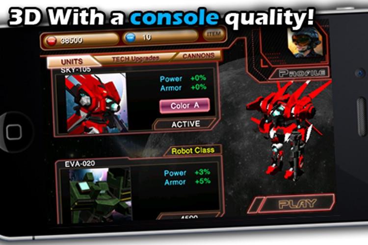 Battle 3D: Robots Sky. screenshot-3