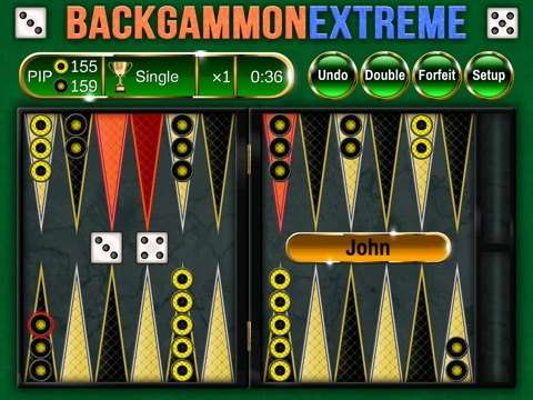 Backgammon Extreme Premium - Powerful, Beautiful, Social! на iPad