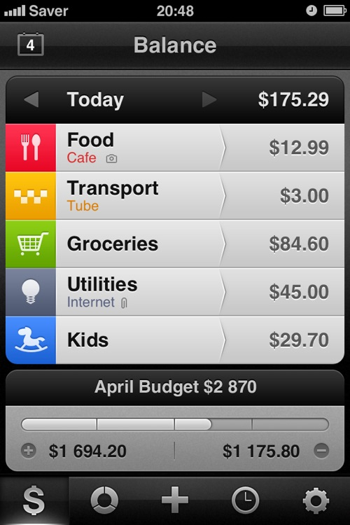 Saver ~ Control your Expenses