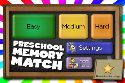 Preschool Memory Match