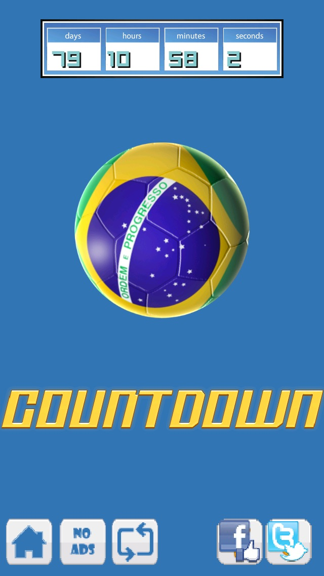 ブラジルサッカーカウントダウン   (Mighty Football Boom - The World Best Countdown to Beach-es of Brazil Action Sport Game)のスクリーンショット2