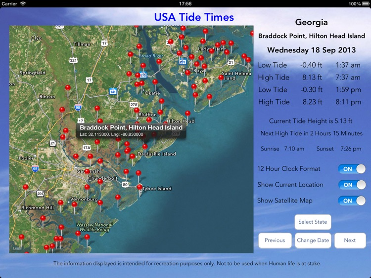 USA Tide Times Pro screenshot-1