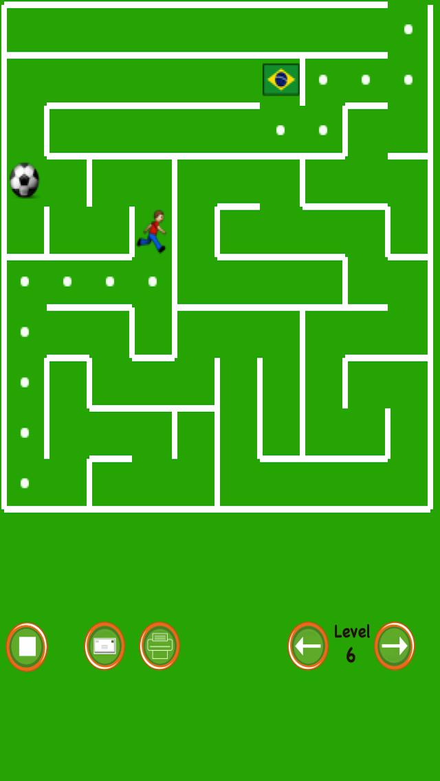 Soccer Maze screenshot one