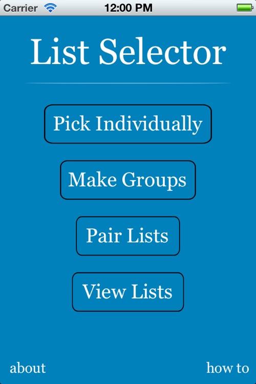 List Selector