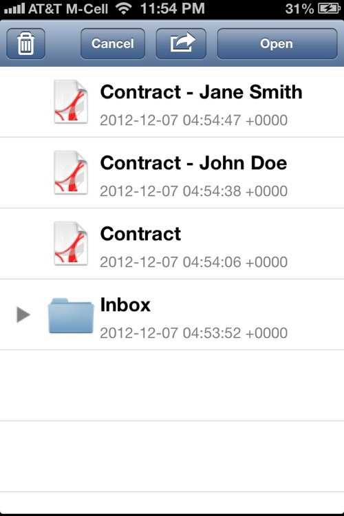 PDF Sign for iPhone : Sign and fill PDF documents screenshot-4