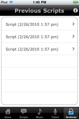 Screenshot of MyHold
