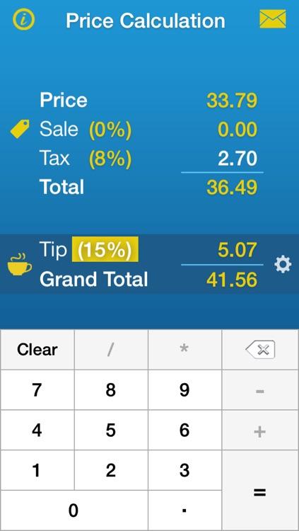 Sales Tax, Discount & Tip Calculator • Price Calculation