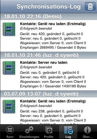 Synthesis SyncML LITE für iOSScreenshot von 3