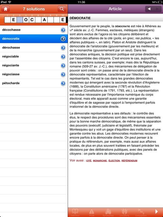 Dictionnaire Le Robert pour iPad screenshot-4