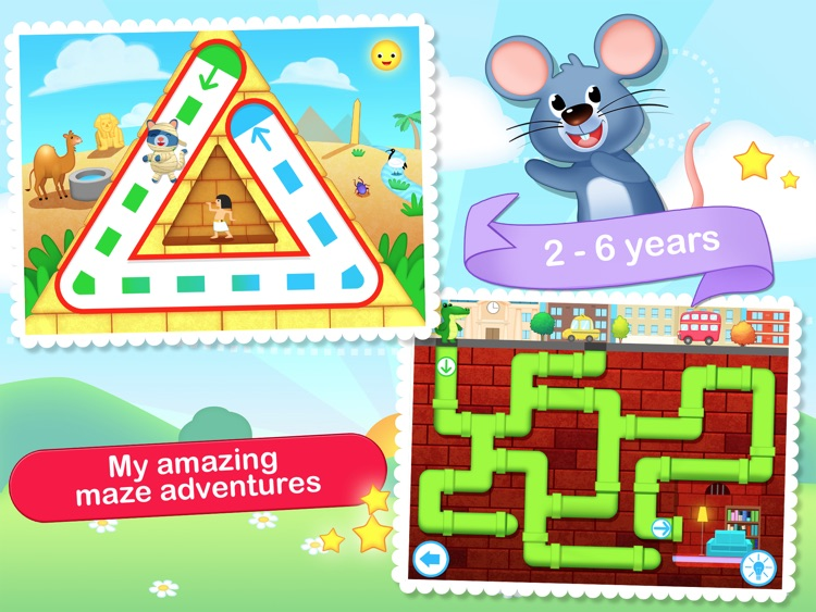 Toddler Maze 123 Free - Fun learning with Children animated puzzle game