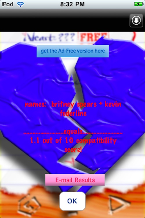 iHeart Love Compatibility Match Calculator Free: Classic Version - Test Your Crush! screenshot-3