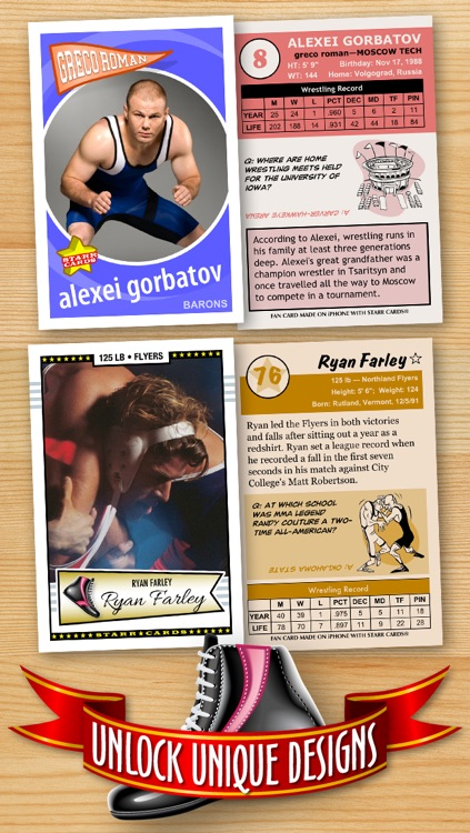Wrestling Card Maker - Make Your Own Custom Wrestling Cards with Starr Cards screenshot-2