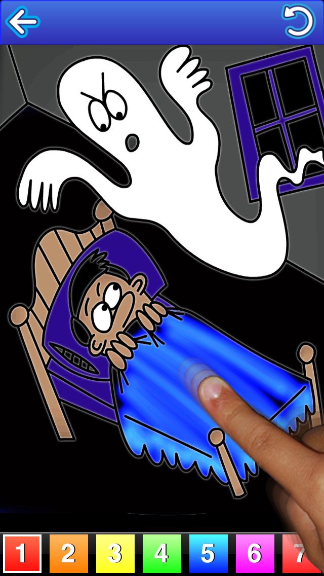 123 Glow, Free Halloween Edition, Talking Coloring Book screenshot two