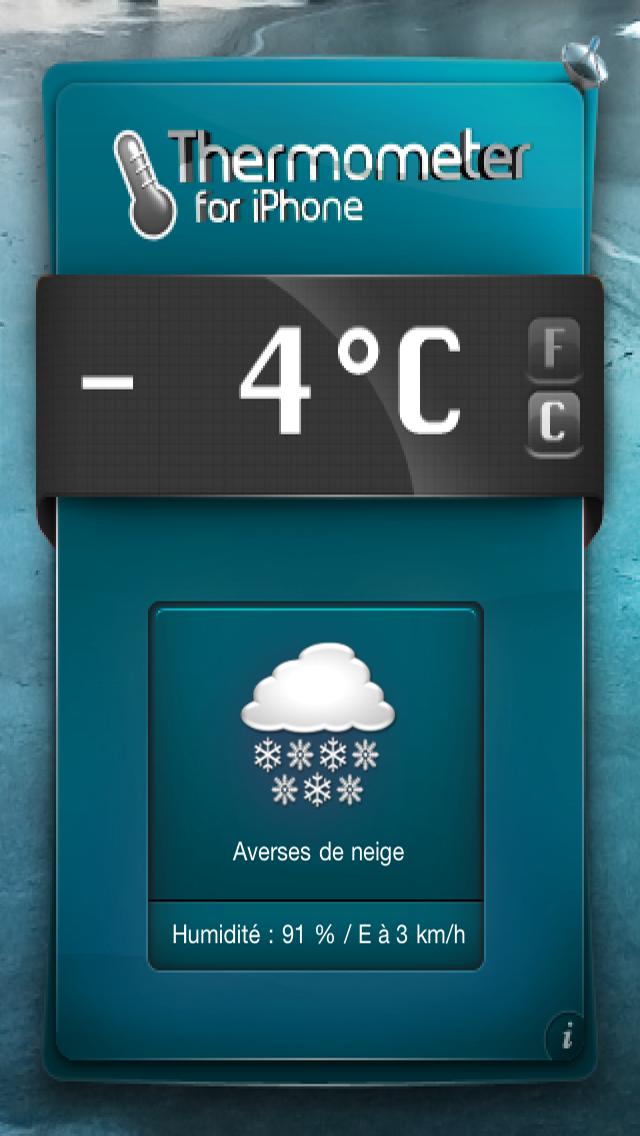 Thermomètre pour iPhone & iPod Touch - Obtenez Température et météo!