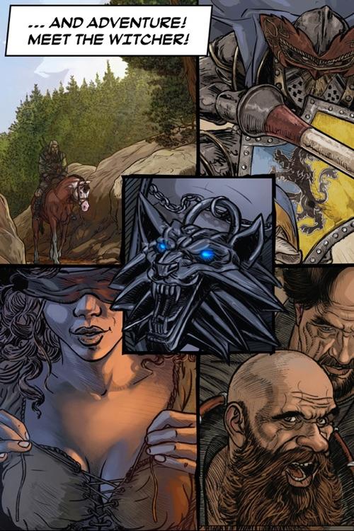 The Witcher 2 Interactive Comic Book screenshot-4
