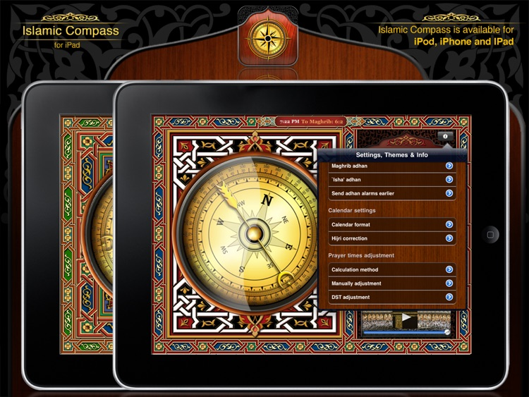 Islamic Compass for iPad - Prayer Times & Qibla screenshot-3