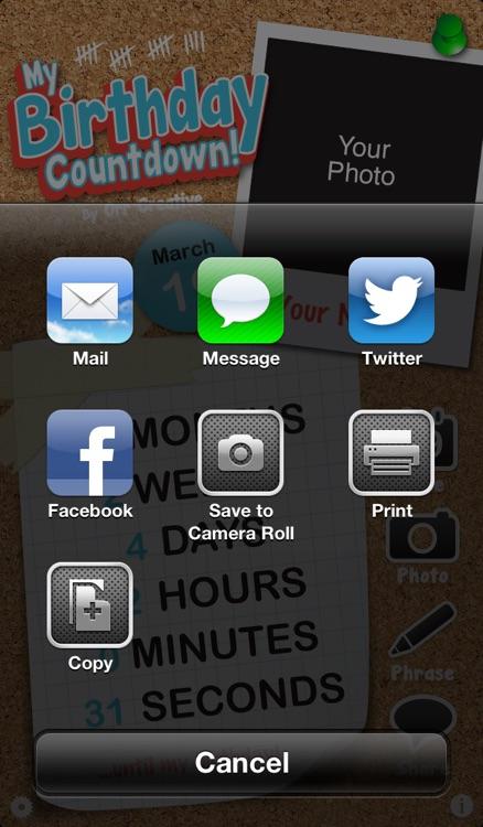 My Birthday Countdown! screenshot-3