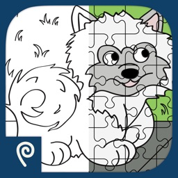 Color It Puzzle It: Cats and Dogs Lite
