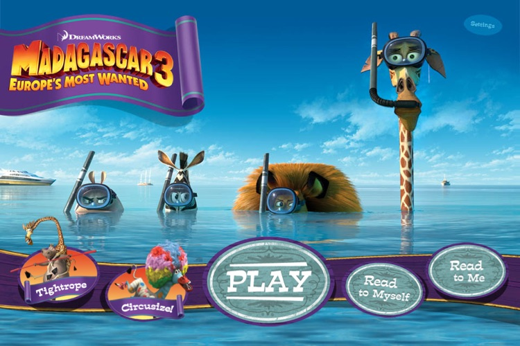 Madagascar 3 Movie Storybook Deluxe screenshot-0