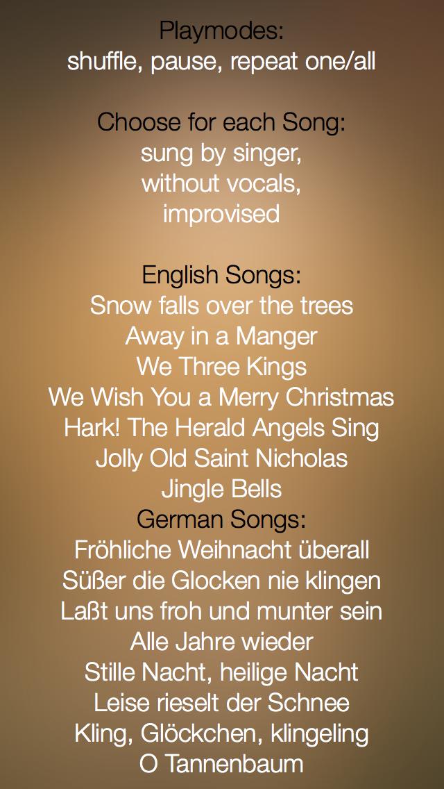 Christmas Music - studio recorded songs to sing along and karaoke - FREE
