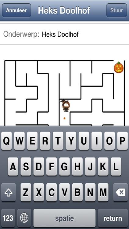 Halloween Witch Maze Race screenshot-3
