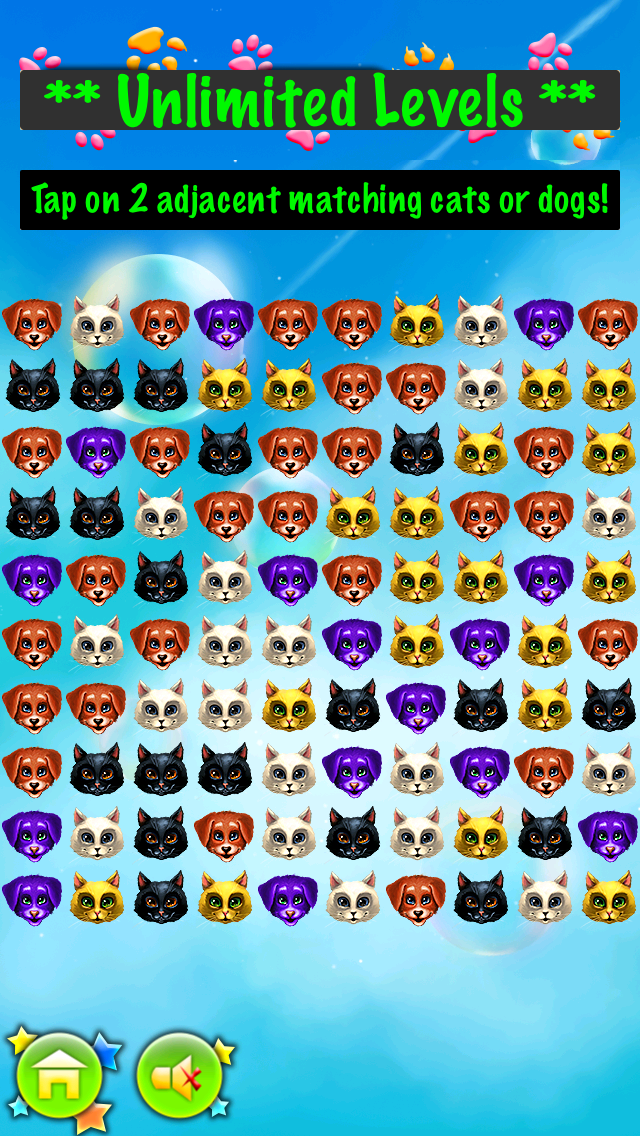 Tap Cats & Dogs Free - Best Super Fun Rescue the Pet Puzzle