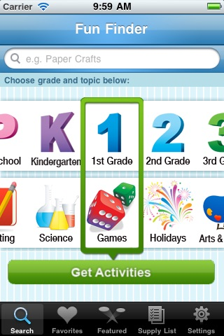 Fun Finder, by Education.com