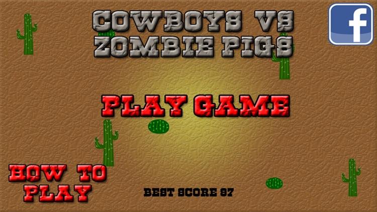 Cowboys VS Zombie Pigs