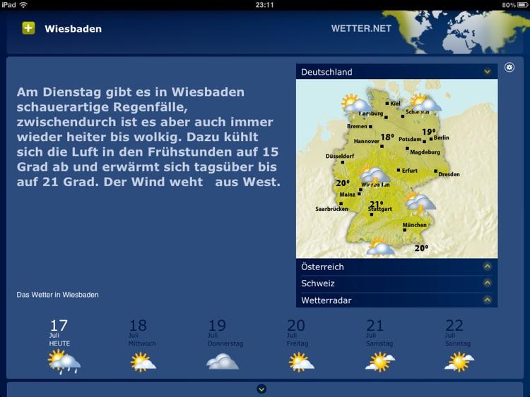 wetter.net Weather App for iPad screenshot-3